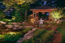 japanese garden lighting. Small Garden Design Lights Park Led Light Japanese Lighting
