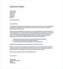 Cover Letter Substitute Teacher Create A Good Teacher Cover Letter