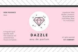 Package Label Template Delectable Pink Perfume Product Label Templates By Canva