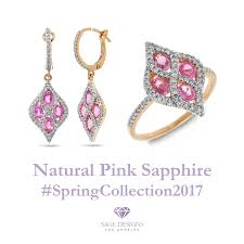 Sage Designs Los Angeles Pink Sapphire Fine Jewelry Exclusive New Spring Collection