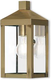 livex 20581 01 nyack antique brass outdoor sconce lighting loading zoom