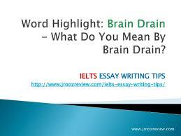 ielts essay writing   brain drain