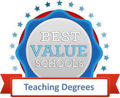 50 best value colleges for a teaching degree best value schools click here for high resolution badge