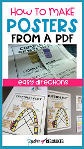 How To Make Poster Size Anchor Charts From A Pdf Science