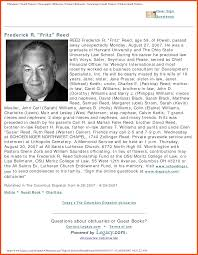 sample of obituary sample obituary for dad program format