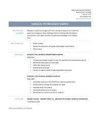 Surgical Tech Resume Samples Resume Cv Cover Letter