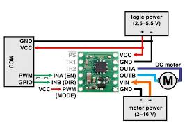 bd65496muv single brushed dc motor driver carrier minimal wiring diagram for connecting a microcontroller to a bd65496muv single brushed dc motor driver carrier en in mode