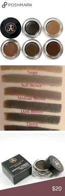 anastesia anastesia dip brow pomade cream liner auburn dark brown chocolate
