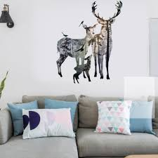removable deer forest wall sticker decals art mural vinyl home room decor diy br