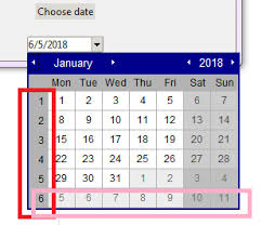 Week Number Calendar Removing Week Number Column In Calendar Widget In Python