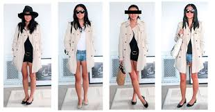 trench coats with denim shorts