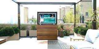 Outdoor Tv Cabinet Ideas Weatherproof Enclosure Outside