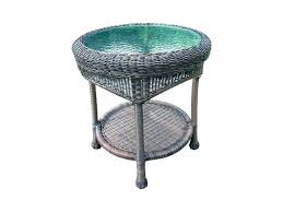 white resin patio side table outdoor with umbrella hole coffee plastic medi