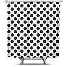 black and white polka dot rug new shower curtain runner
