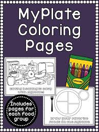 Small Picture MyPlate Food Group Coloring Pages Food groups Kindergarten and
