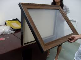 Large wooden shadow box frame