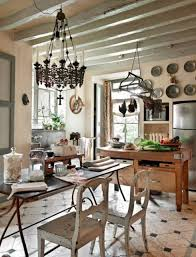 Hanging Kitchen Pot Rack French Kitchen Design With Wooden Island Table And Hanging Pot