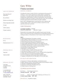 Job Skills For Cv Finance Assistant Cv Sample Strong Ledger Skills Cv Writing Job