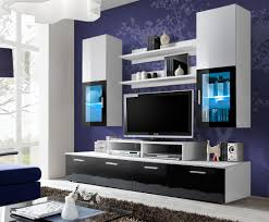 home entertainment furniture design galia. 200 Cm Width Black And White Entertainment Center - Toledo 2 Home Furniture Design Galia .