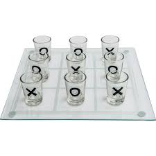 maxam shot glass tic tac toe game with glass game board