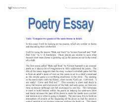 poetry essay gcse health and social care marked by teachers com document image preview