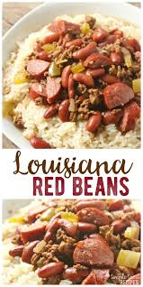 easy dinner recipe this louisiana red beans and rice dish is hearty and filling with