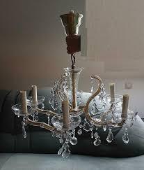 Kronleuchter Lampe Glas Kristall Deckenlampe Leuchter