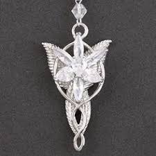 white gold plated lord of rings lotr necklace pendant evenstar jewelry wedding