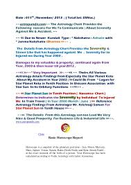 Astropundit Com The Astrology Chart Provides The Following