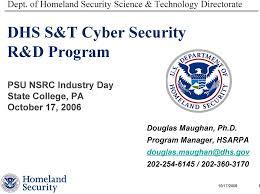 Dhs S T Cyber Security R D Program Pdf