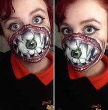 i use face paint to turn myself into dark or strange characters scary makeup face painting manatee94 1