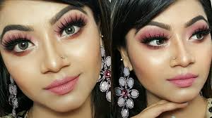 pink shimmery eye makeup tutorial wedding guest party makeup makeup maniac by linda you