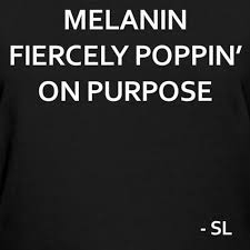Melanin Quotes Mesmerizing Empowering Black Girls Tees By Lahart MELANIN FIERCELY POPPIN' ON