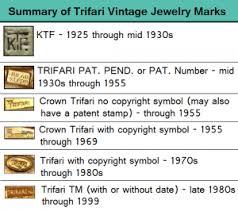 trifari vine jewelry identification and research my clic jewelry vine jewelry