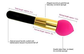blending sponge with handle. amazon.com: purple beauty makeup blender sponge foundation applicator brush - best pro airbrushed look and unvarying coverage without even trying natural blending with handle l