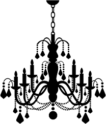 candle chandelier wall stickers wall art decal transfers