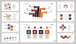 Ten Marketing Charts Slide Templates Set