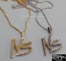 custom 10k gold no stress logo pendant
