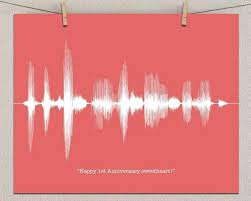 paper anniversary gifts for him first paper anniversary custom print personalized sound wave art gifts paper anniversary gifts for him