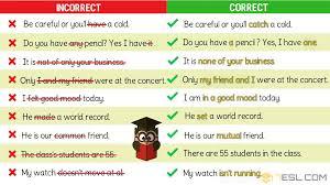 Grammatical Errors 170 Common Grammar Mistakes In English