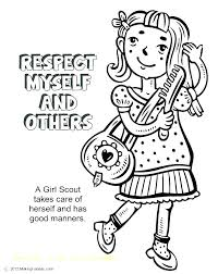 Coloring Daisy Girl Scouts Coloring Pages Scout Page With Flower