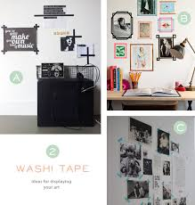 display your wall art with washi tape