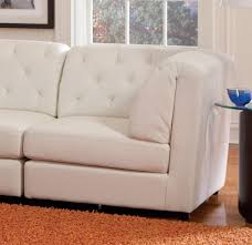 quinn white sectional 2 corners 3 armless chairs and ottoman