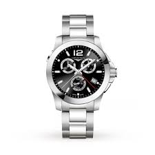 longines conquest mens watch mens watches watches goldsmiths longines conquest mens watch