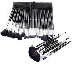 32pcs black color professional mac cosmetic makeup brushes set brush make up tool kit case souq uae