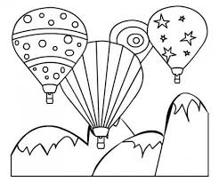 Small Picture Colorful Hot Air Balloon Printable Coloring Page For Kids