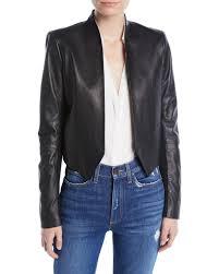 alice oliviaharvey dd open front leather jacket
