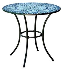 30 round bistro table round metal outdoor bistro patio table with hand laid blue tiles 30 30 round bistro table