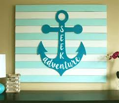 wooden anchor wall art large