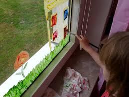 Fenster Bemalen Sommer Kinder